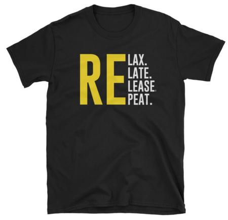 Relax Relate Release Repeat TShirt