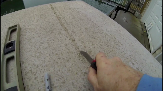 How to cut Hardiebacker cement board with a knife. www.DIYeasycrafts.com