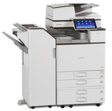 Cedar Rapids Photo Copy, Inc., CRPC, Savin MP C3004ex, Savin MPC3504ex, Office Printing, Office MFP, Printer, Copier, Print, Copy, Scan, Fax, 35 pages per minute black and white or full color, Smart Operation Panel, Stapler, Paper Folder, Hole Punch, Print from Mobile Device