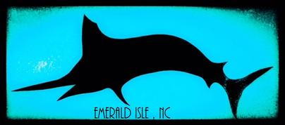 ei nc sticker, emerald isle nc sticker, nc sticker, bogue banks nc, nc artist, barry knauff, cape careret nc sticker, emerald isle nc, shark sticker, ei sticker