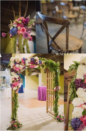 Collage of Event Floral Designs
