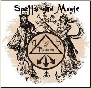 Symbolic picture of black magic