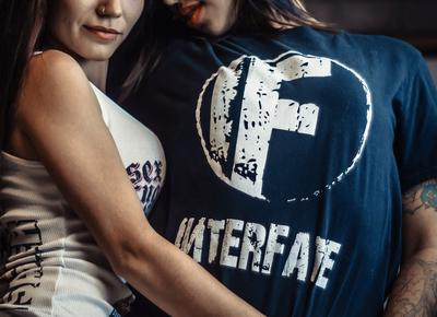 Shirts and other Interfate logo merchandise