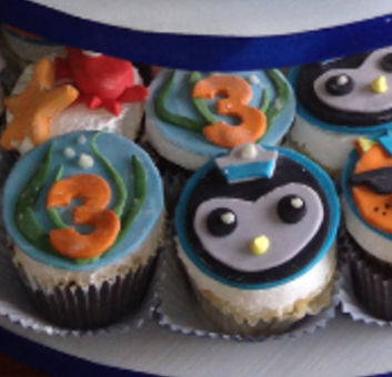under the sea cupcakes, 3 year old, kids, penguins,baby crabs , star fish