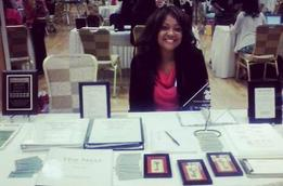 Dr. Angela Chester - Vendor table. STARS event for female youth. (women's ministry)