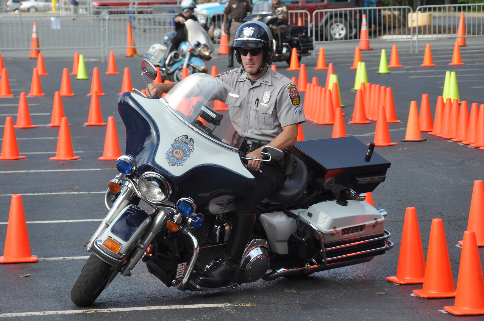 Let The Rodeo Begin Police Motorcycle Safety Skills