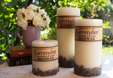 Lavender Beeswax Candles