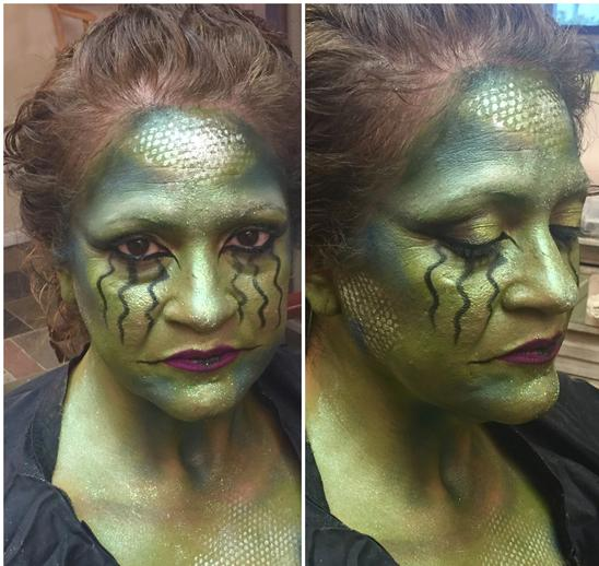 medusa face paint