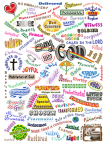 Names of God's Kids Sticker - Who We Are in Christ