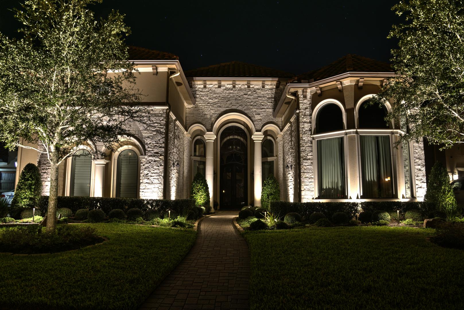Led Outdoor Landscape Lighting Houston Dallas Tx Mik Solutions