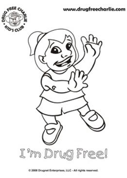 Click On The Coloring Page Thumbnails Below To Download And Print Our Drug Free Fun Pages Featuring Charlie His Friends