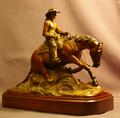 Reining horse bronze sculpture and gifts