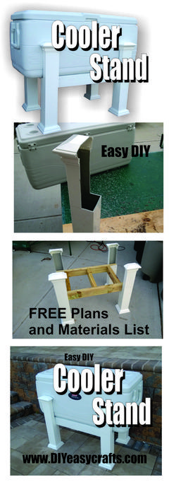 Free plans for PVC Cooler Stand. Great for outdoor parties. www.DIYeasycrafts.com