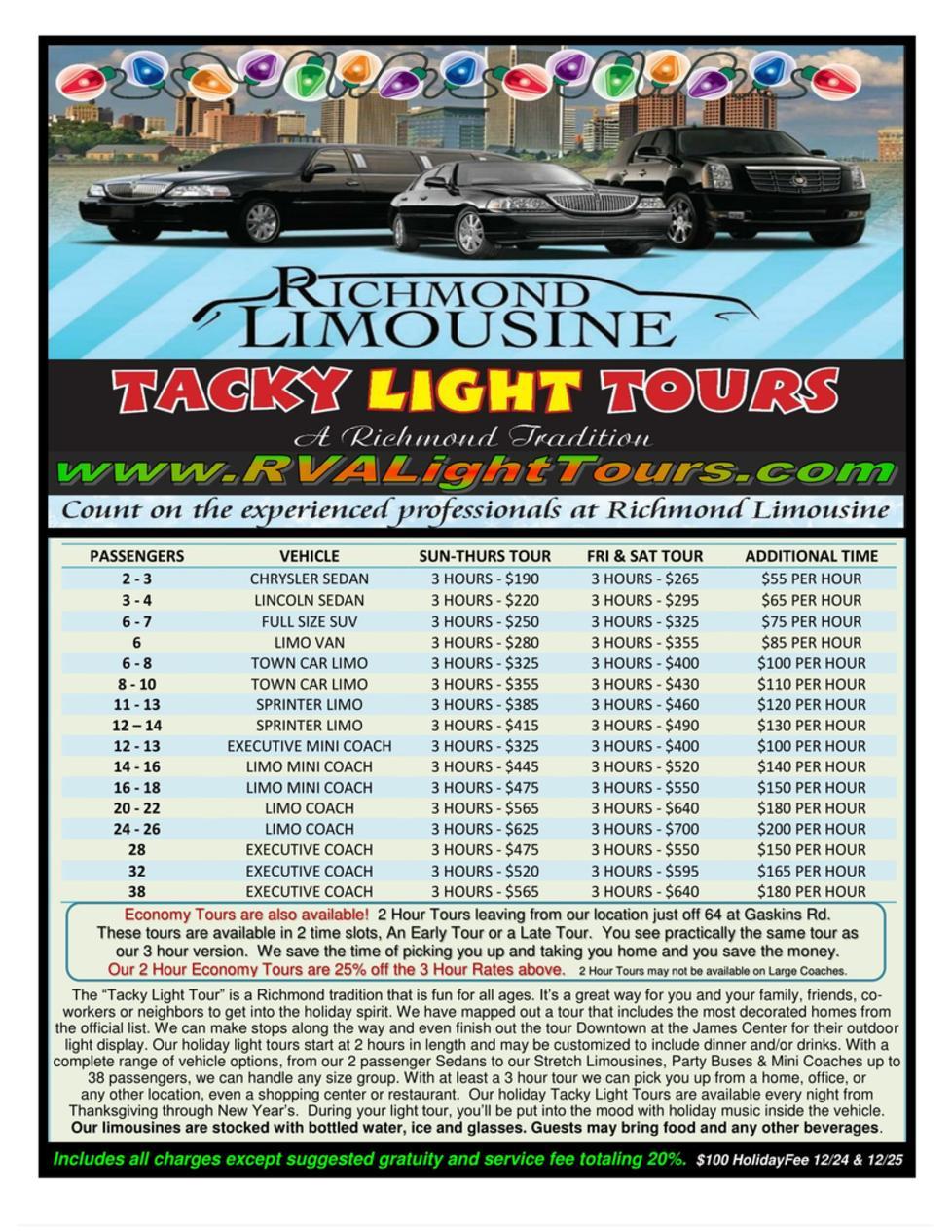 Tacky Light Tour Run Richmond Va