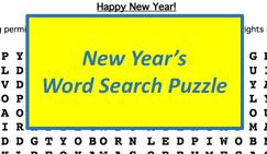 New Year's Word Search Puzzle