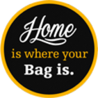 logo link to a thailand travel blogger, home is where your bag is