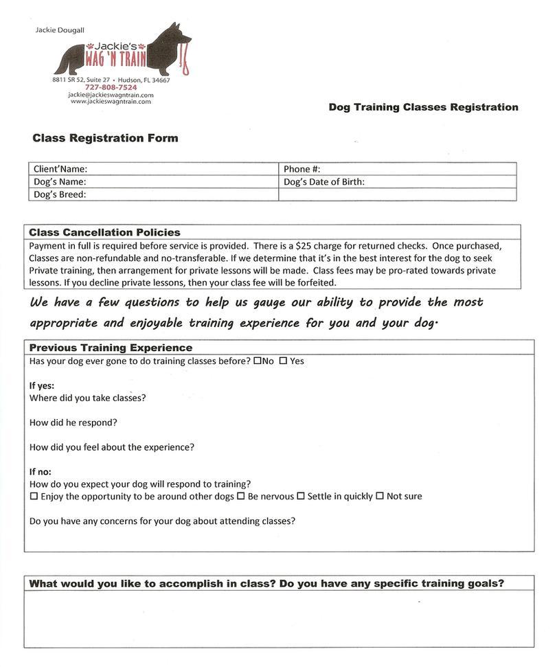 registration form in word