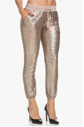 Rose Gold Sequin Jogger