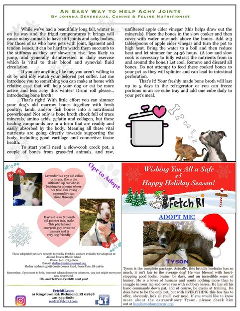 Fetch RI - Winter 2017 Newsletter Page 2