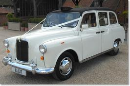 Wedding Car hire Essex Classic London Taxi Black Ivory