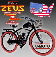 COMPLETE NEW MOTORIZED BIKE KIT DO IT YOURSELF SYSTEM U-MOTO