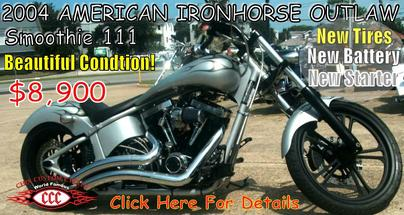 Ironhorse,Outlaw, Chix Custom Cycles