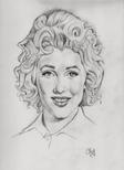 MARILYN MONROE (pencil on paper) by CLIFF CARSON