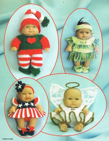 Crochet Baby Doll clothes pattern