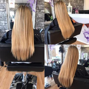 Long Blonde Straight Hair Extensions Precision Rayleigh Eastwood Leigh On Sea Essex