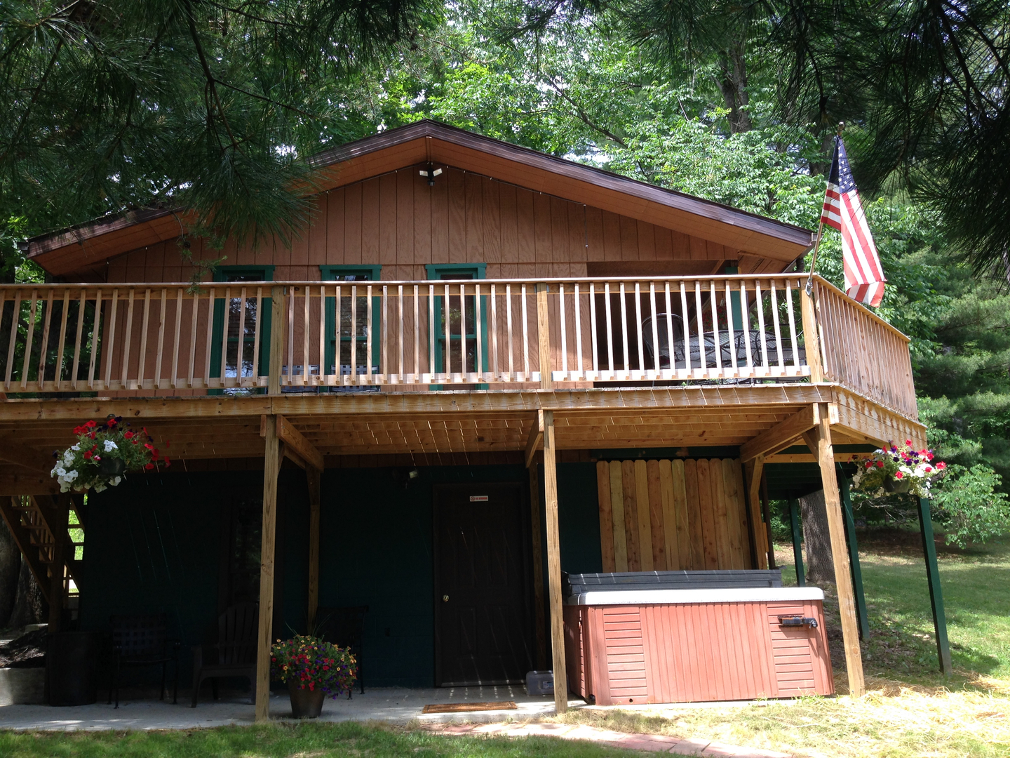 area log features lodge covered hocking parking rental rentals cabins large mountain cabin timbertrailcabin cheap ohio hills in decks