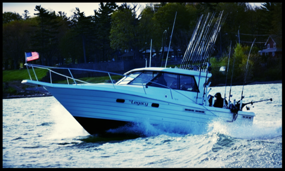 Lake ontario trout and salmon fishing charters for Lake ontario salmon fishing charters