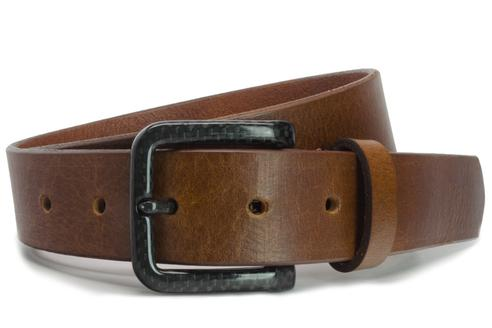 The Specialist Brown Carbon Fiber Belt - metal free belt is designed for those with multiple metal allergies but ideal for high security jobs