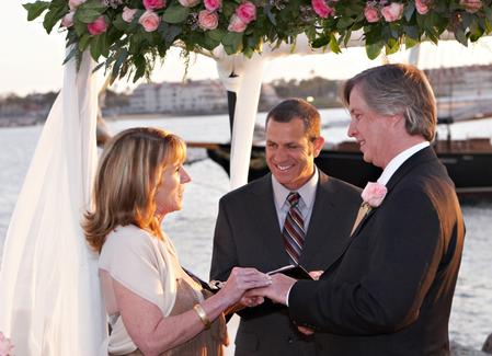 Renewal Of Wedding Vows Ceremony And Reaffirmations On The Beach In