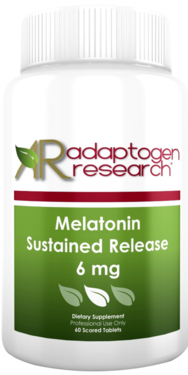 Adaptogen Research, Melatonin Sustained Release 3 or 6 mg