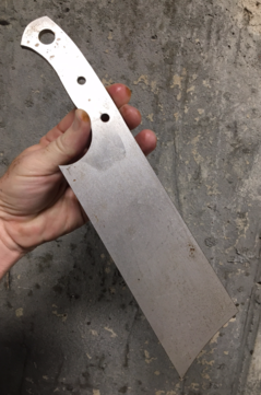 Water jet cut Cleaver knife blank. www.DIYeasycrafts.com