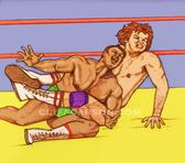 Leg Locked Rocky Johnson