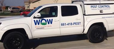 Wow Pest Control in Bakersfield Service Vehicle