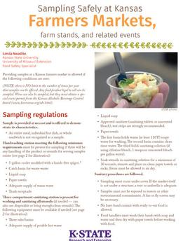 Sampling Safely at Kansas Farmers Markets PDF link