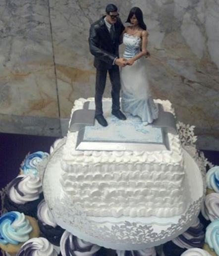 lois and clark wedding cake topper