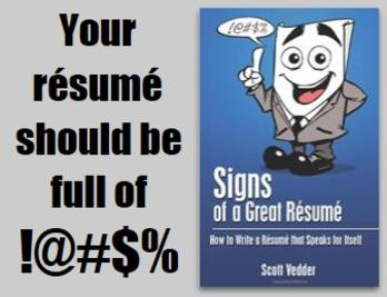 signs of a great rsum book information best selling author scott vedder from amazoncom