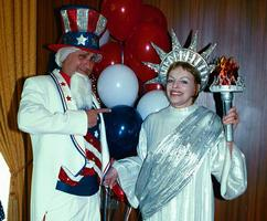 Patriotic Costumed Characters at a Corporate Themed Event.