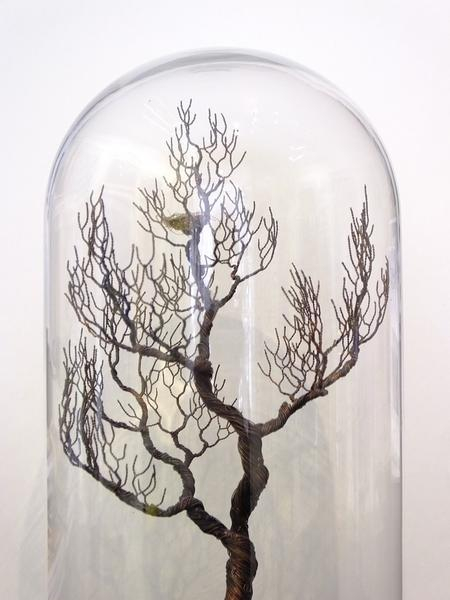 Sculptures of trees by Joy Gray