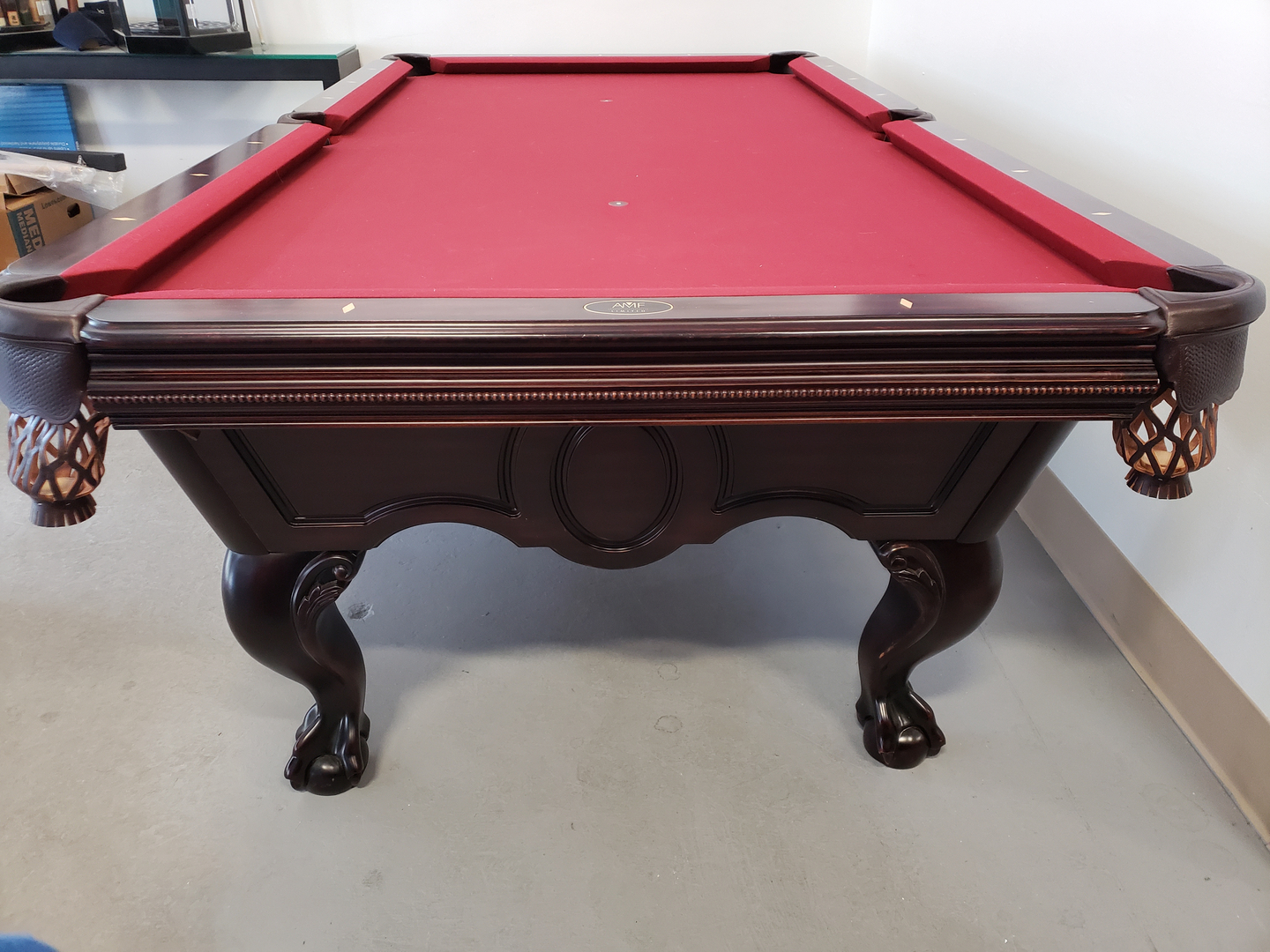 Refurbished Tables - Claw foot pool table