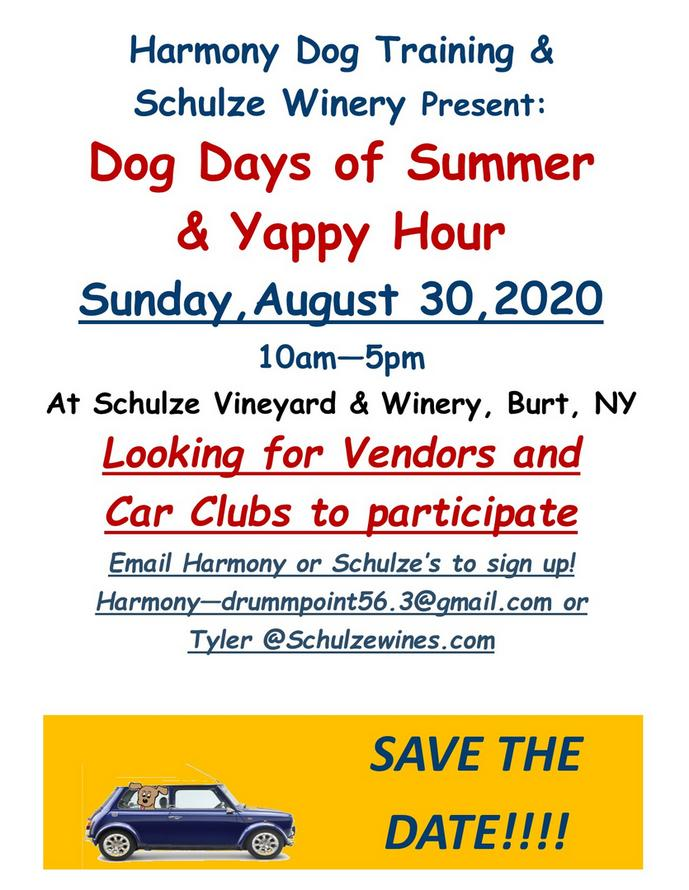 Dog Days Of Summer 2020.Dog Days Of Summer And Yappy Hour 2020