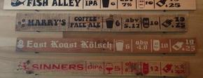 Glimpse of our tap list and what's available in our tasting room. Photo links to our untappd page that shows our current up to date tap list.