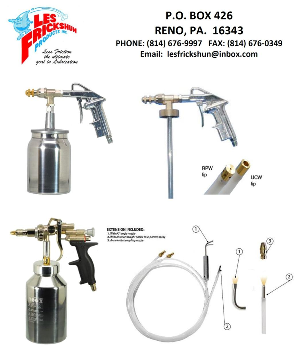 Spray guns for Undercoating with used motor oil
