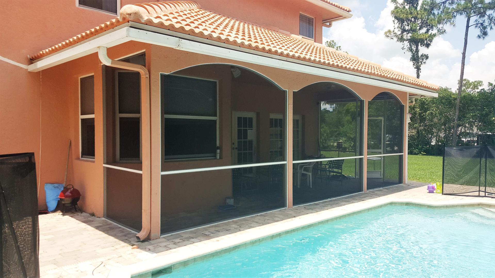 with porch rail transoms track custom vinyl screenrooms kits screen htm gazebo stackable parts aluminum chair screened systems fixed model windows champaign and