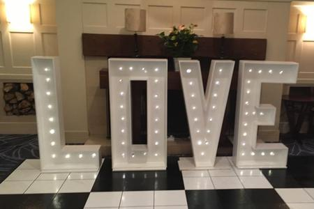 sweet dreams candy cart love letter lights hire sussex