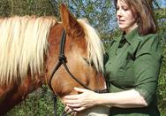 Lisa Wysocky with Haflinger horse