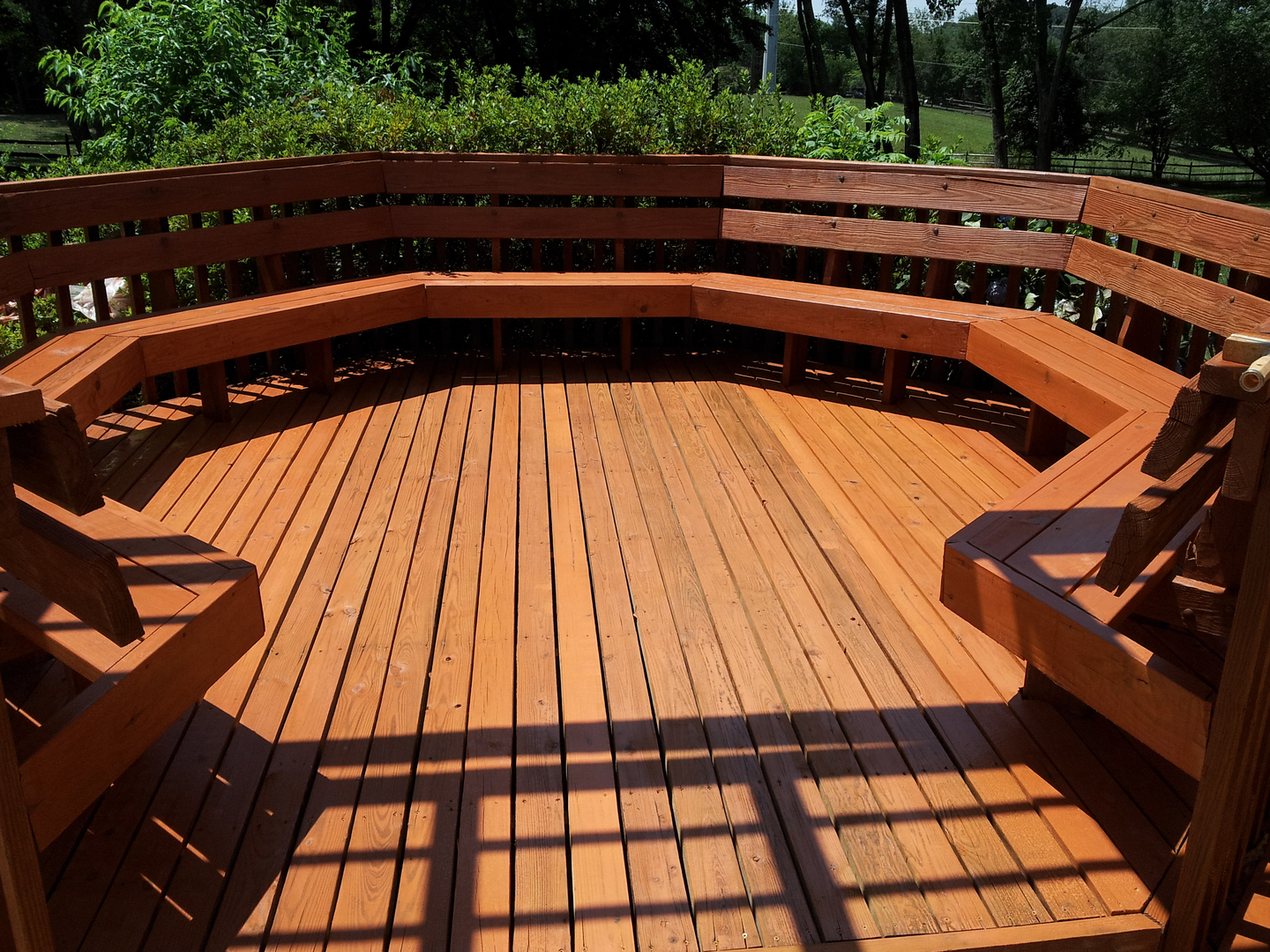 Power washing a deck - We Pressure Wash All Exposed Surfaces To Safely Remove Dead Wood Fibers Dirt And Mildew From Deck With A Safe Deck Cleaner Solution As Soon As The